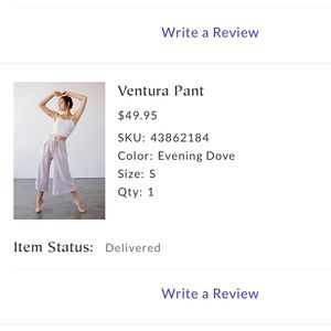 Free People Pants & Jumpsuits - Free People Movement Ventura Pant Size Small